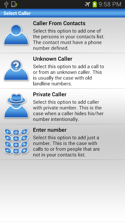 Fake Call Log - screenshot