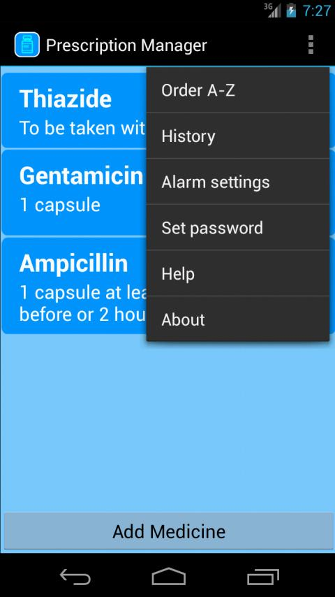 Prescription Manager Free - screenshot