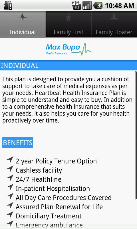 Max Bupa Premium Calculator- screenshot