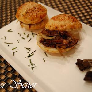 Mushroom Puff Pastry Sliders