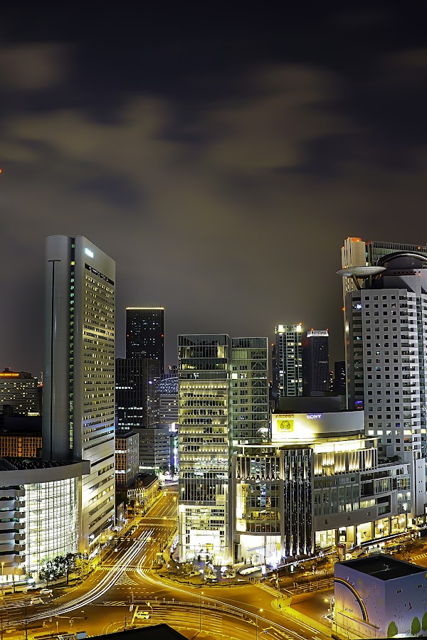 osaka city by Mariyo Putro - City,  Street & Park  Night