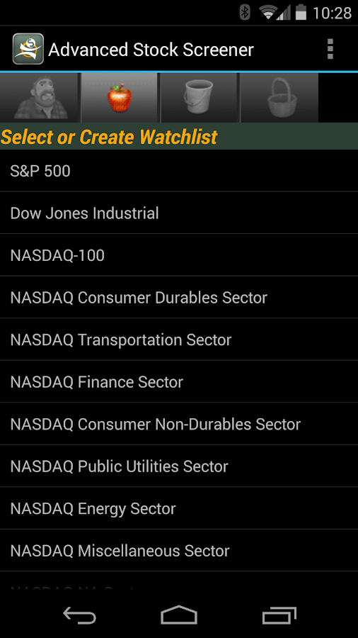 Advanced Stock Screener- screenshot