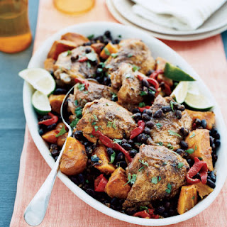 Slow-Cooker Latin Chicken with Black Beans and Sweet Potatoes.