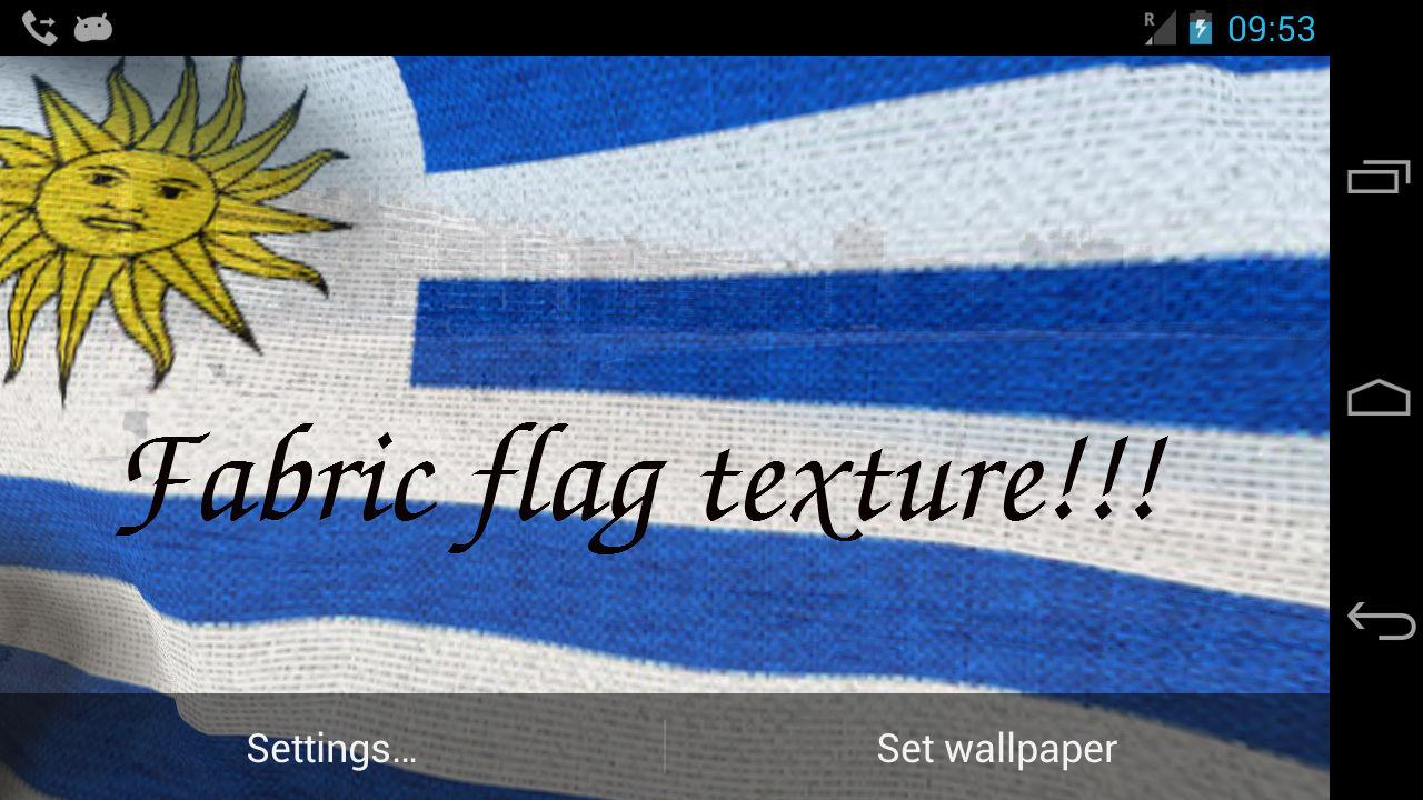 D Uruguay Flag Live Wallpaper Android Apps On Google Play - Uruguay flag
