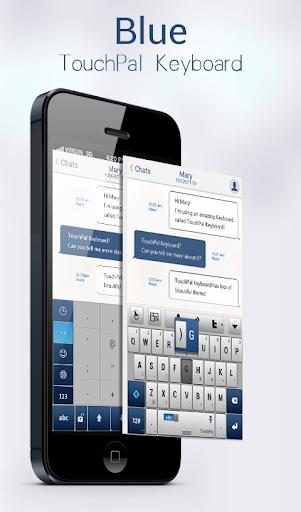 Blue TouchPal Keyboard Theme