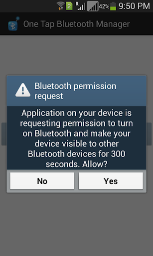 One Tap Bluetooth Manager