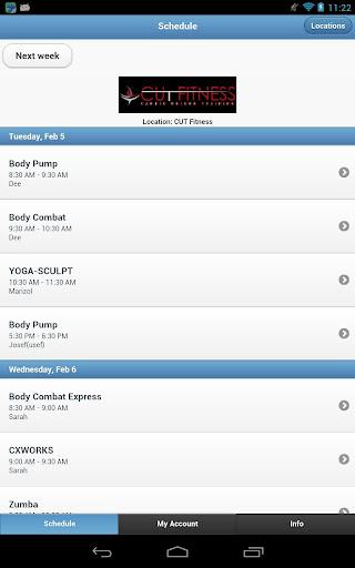 CUT Fitness App