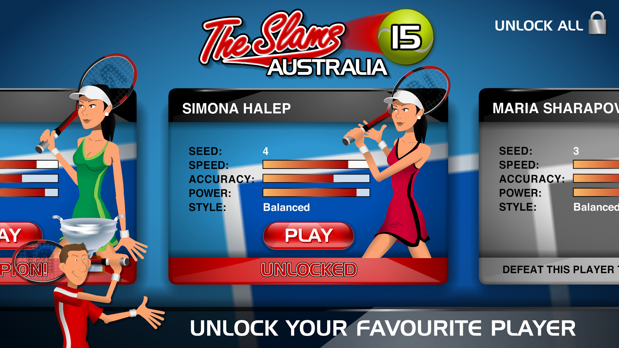 Stick Tennis screenshot #4