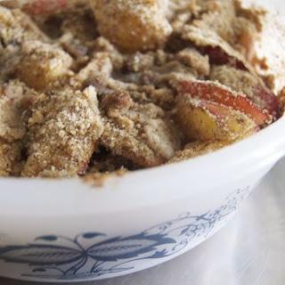Elvis' Spiced Gluten-Free Nectarine Cobbler