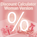 Discount Calculator - Woman icon