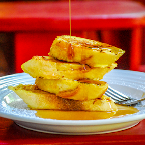 French Toast by Dave Clark - Food & Drink Plated Food ( syrup, bread, food, breakfast, french, toast,  )