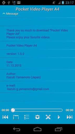 Pocket Video Player A4