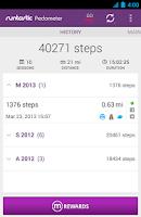 Screenshot of Runtastic Pedometer Step Count