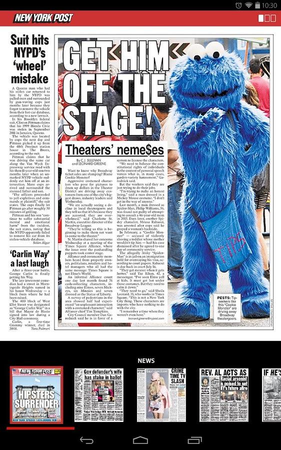 New York Post for Tablet - screenshot