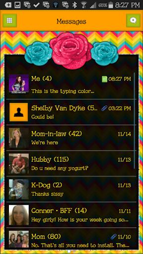 GO SMS THEME - SCS376