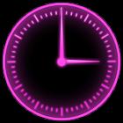 Pink Glow Clock Widget icon