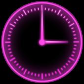 Pink Glow Clock Widget