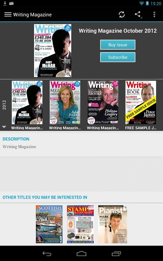 Writing Magazine - screenshot