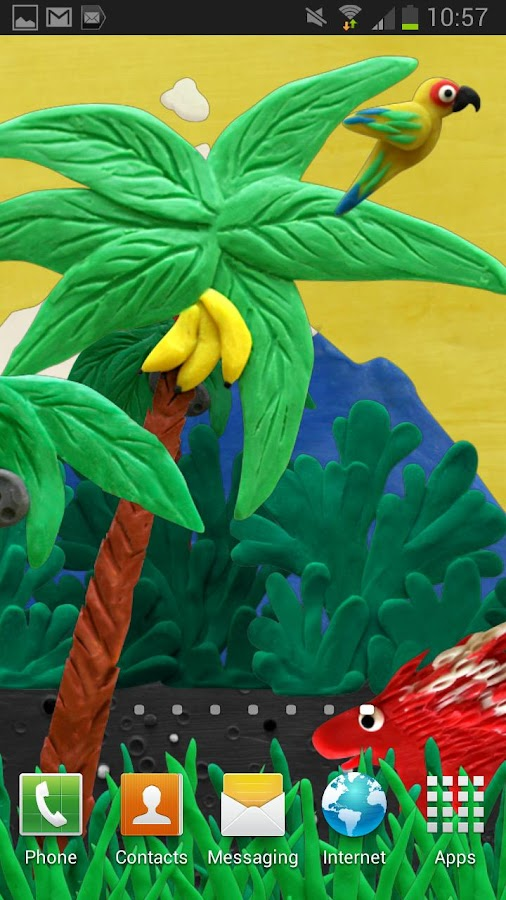 Plasticine jungle LWP - screenshot