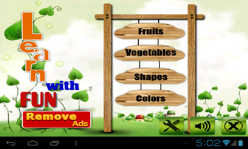 Fruit shape color veg for kids - screenshot