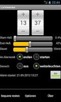 Screenshot of Lichtwecker (dawn simulator)