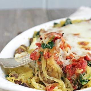 Sausage, Spinach & Spaghetti Squash Bake – Low Carb and Gluten Free.