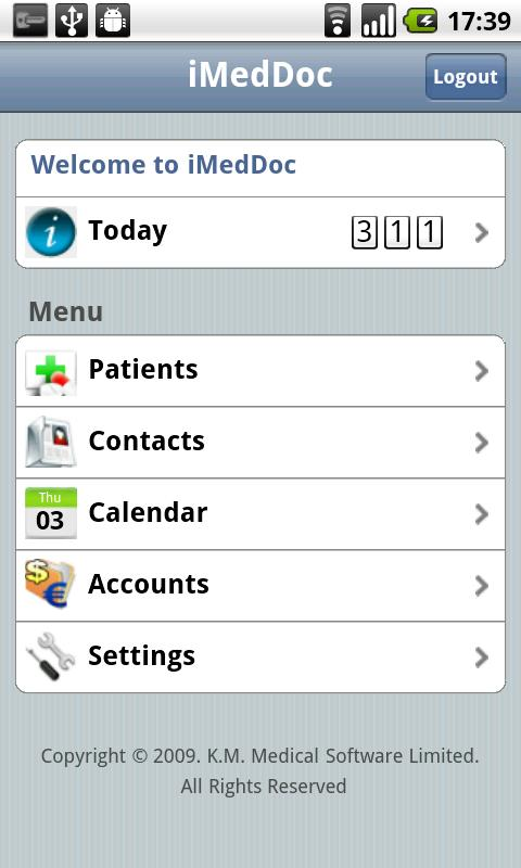 iMedDoc E.M.R - screenshot