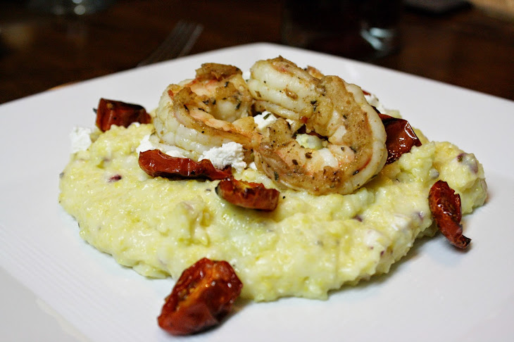 Roasted Tomato and Corn Grits with Shrimp Recipe