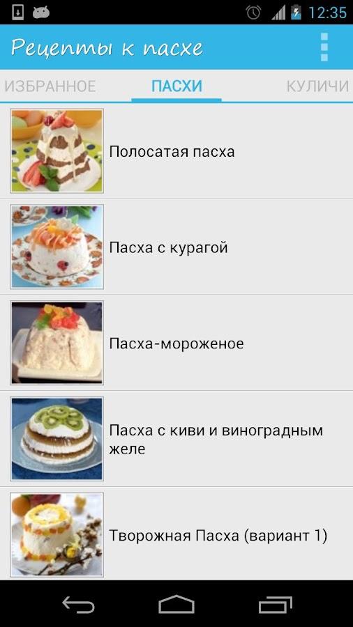 Рецепты к Пасхе- screenshot