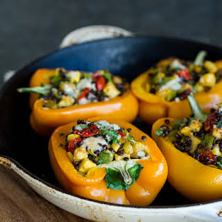 Lentil Stuffed Peppers.