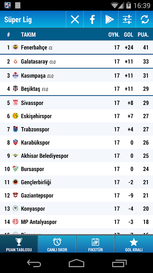Süper Lig - screenshot