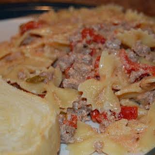 Italian Sausage with Bowties.