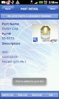 Screenshot of Parts Finder