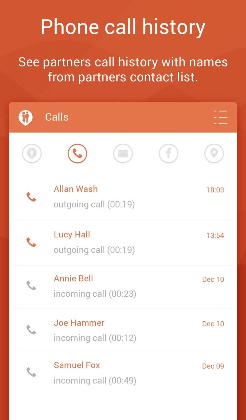 Couple Tracker Pro - Cell phone monitoring Screenshot 1