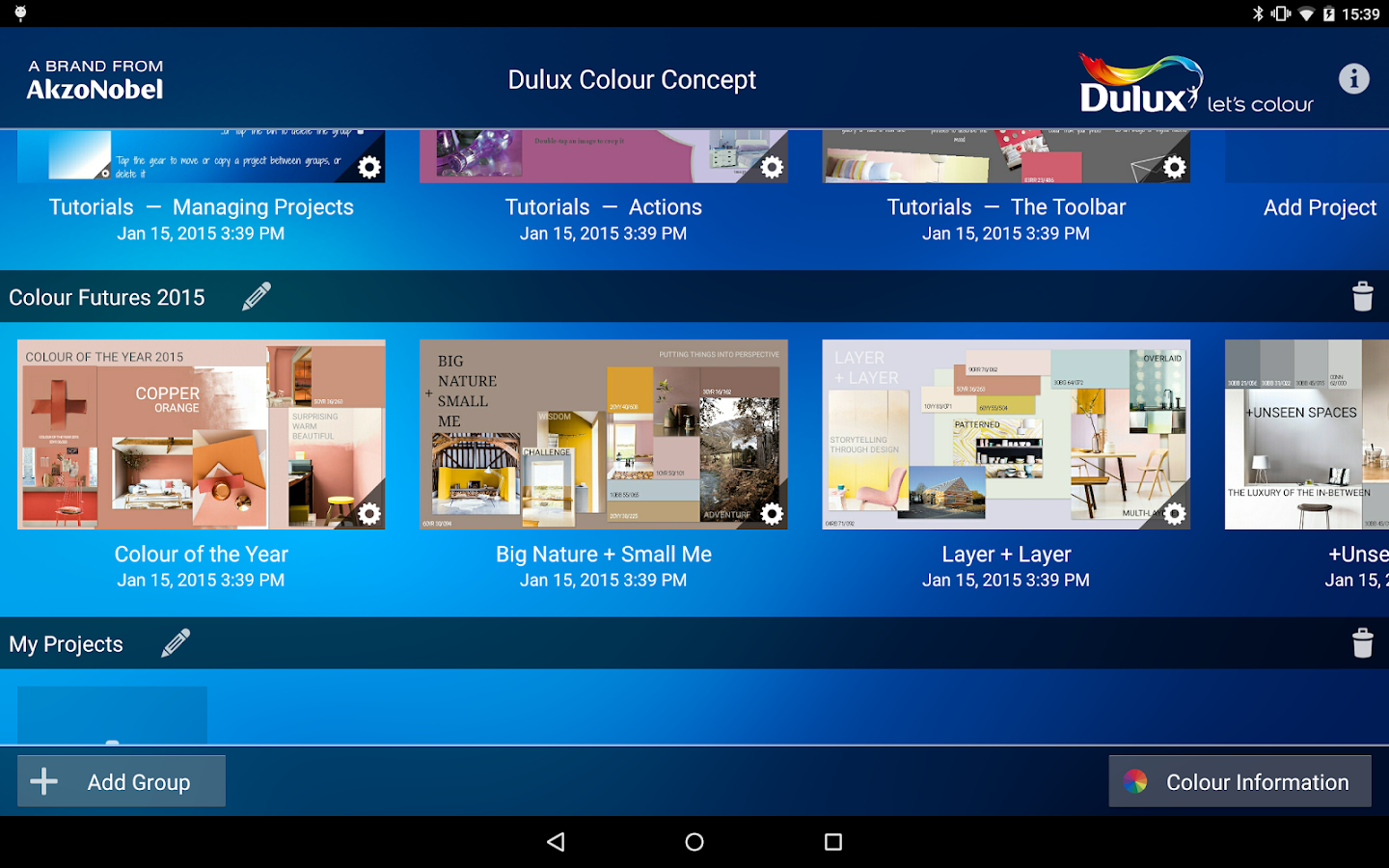 Dulux Colour Concept- screenshot