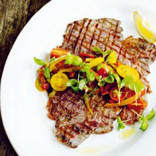 Jamie Oliver's flash steak and salsa picante.