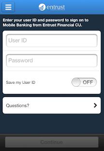 Entrust Financial CU Mobile - screenshot thumbnail