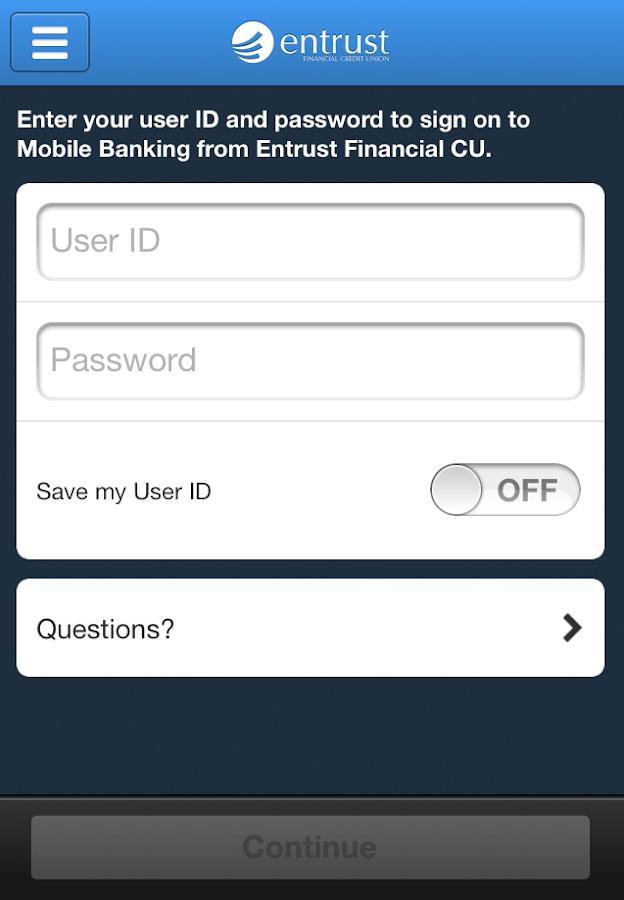 Entrust Financial CU Mobile - screenshot