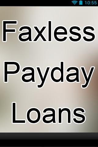 Faxless Payday Loans