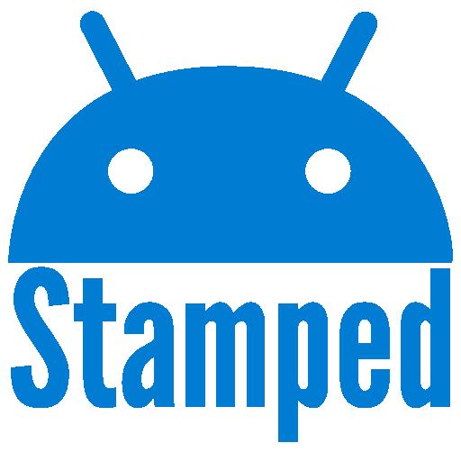 Stamped Blue Icons LOGO-APP點子