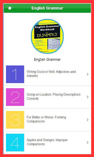 Workbook for English Grammar