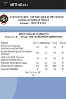 Screenshot of All The Best - VTU Results