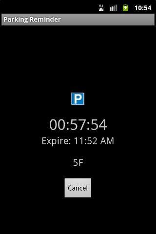 Parking Reminder- screenshot