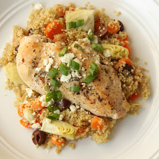 Baked Chicken With Quinoa And Artichokes