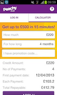 Peachy Loans - screenshot thumbnail