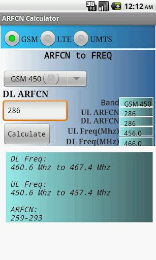 ARFCN Calculator