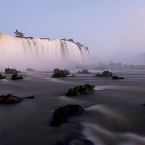Last light on Iguazu Falls by Marco Parenti - Landscapes Waterscapes ( waterscape, falls, landscape )