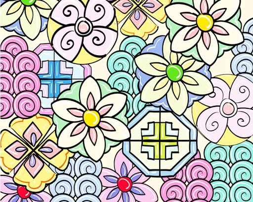 甜美花纹壁纸
