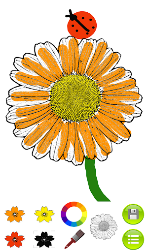 Sketch Coloring Book: Flowers