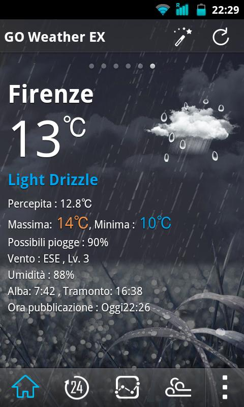Italy Language GOWeatherEX - screenshot